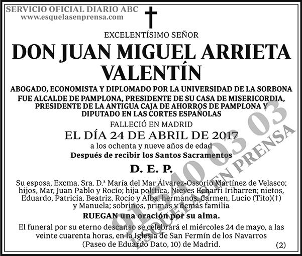 Juan Miguel Arrieta Valentín